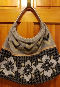 Bags - Hounds Tooth Wool Purse